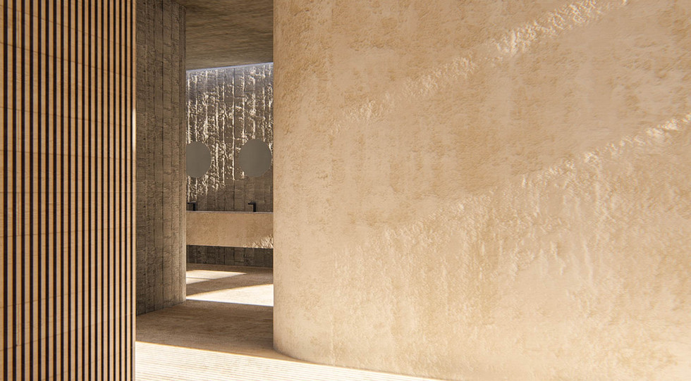 Onsen Changing area - Modern Onsen baths