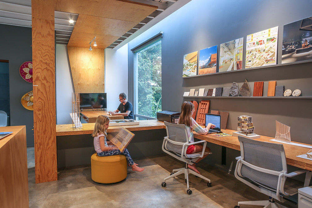 Architects home studio designed by Inverse Project turned to a home school during CoronaVirus - the Home School Office