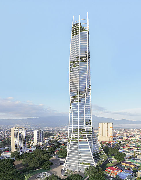 Inverse Project Bicentennial Tower in Costa Rica - Tallest building in Central America