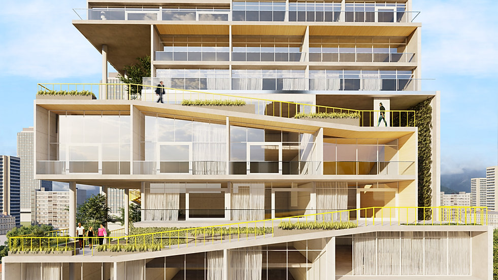 Modern sustainable tower in Costa Rica designed by Inverse Project