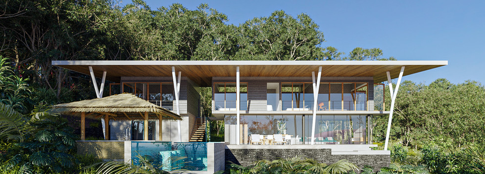 Inverse Project - Tropical Modern Home Design - Best Sustainable Architecture in Costa Rica - Dominical Architects - Beach Living