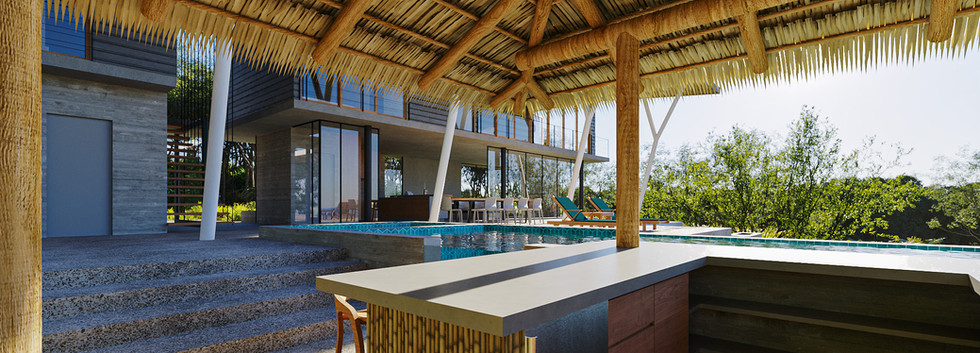Inverse Project - Tropical Modern Home Design - Best Sustainable Architecture in Costa Rica - Pool Rancho