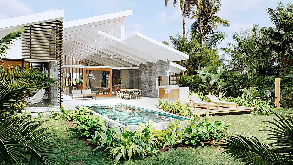 Modern Beachfront home design in Costa Rica by Inverse Project