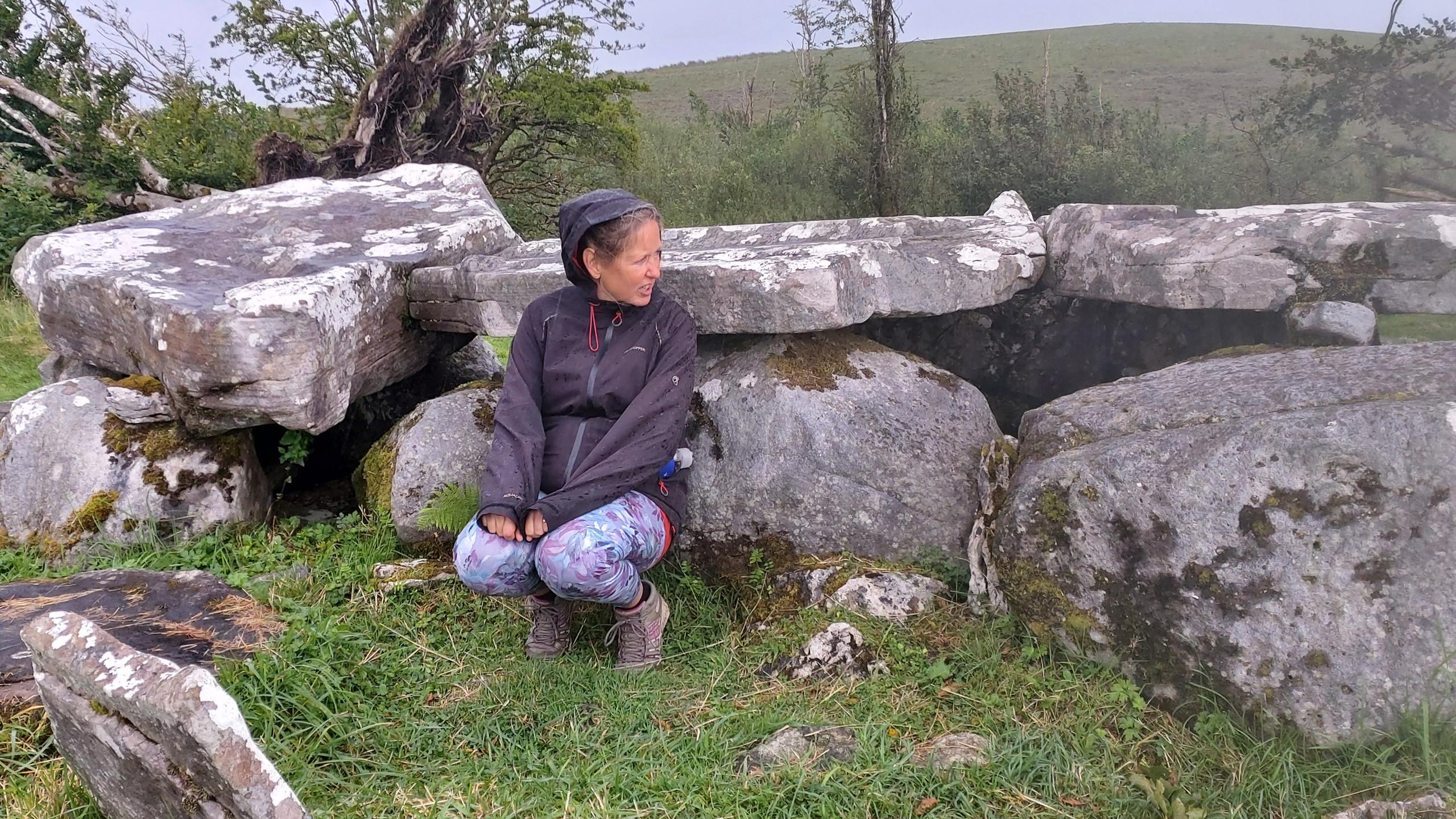 Jenni seeking shelter