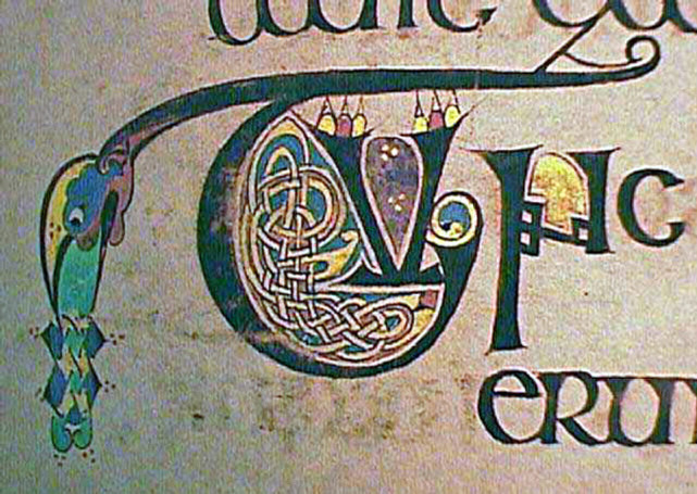 Knot work embellishment in the Book of Kells, Public Domain, https://commons.wikimedia.org/w/index.php?curid=2002048
