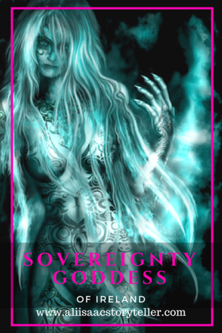 The Sovereignty Goddess of Ireland. www.aliisaacstoryteller.com. #sovereignty #goddess #ireland #mythology