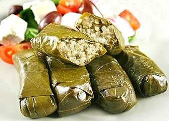 Carys loves dolmades... and so do I!