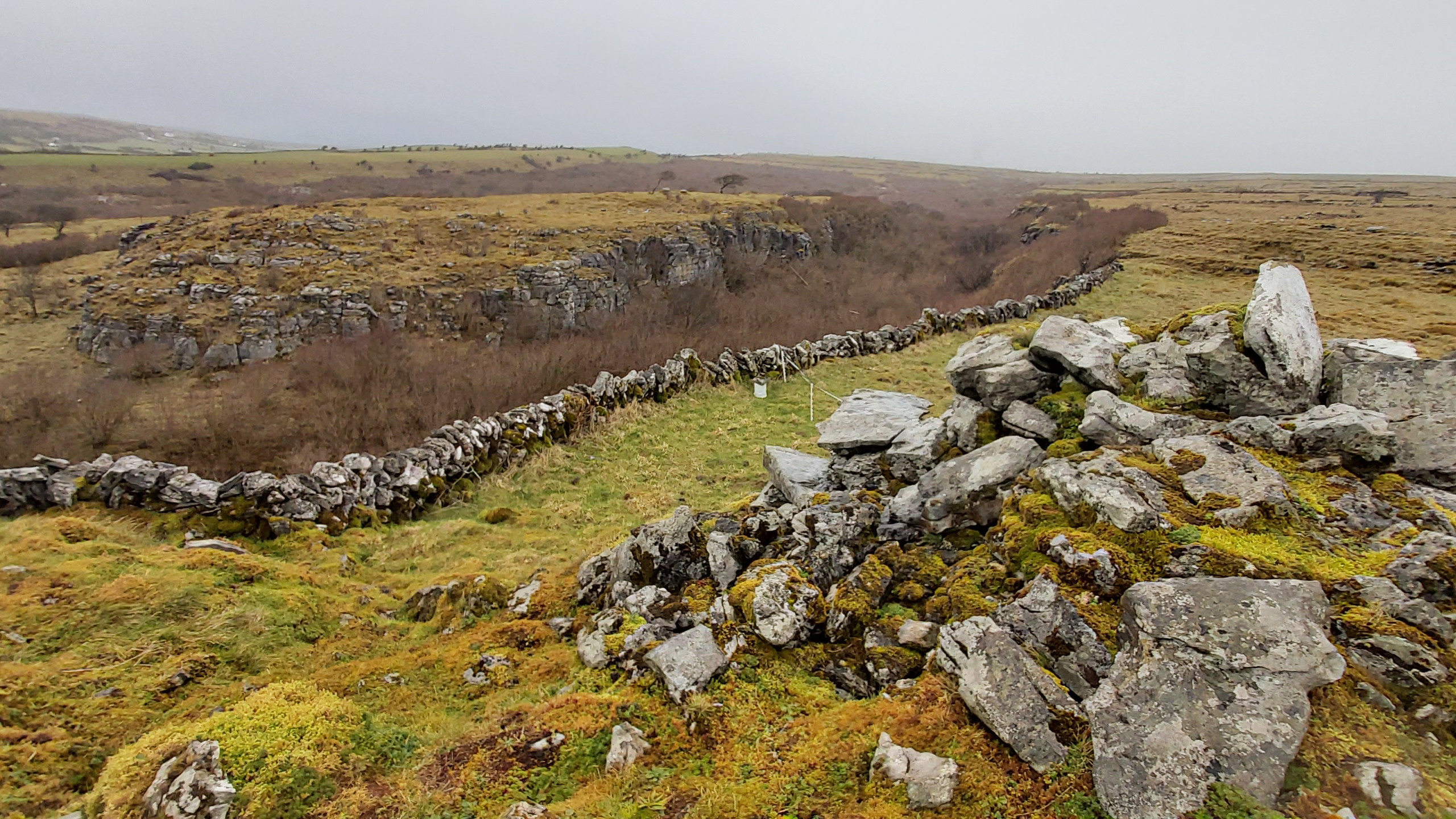stone wall along the gorge