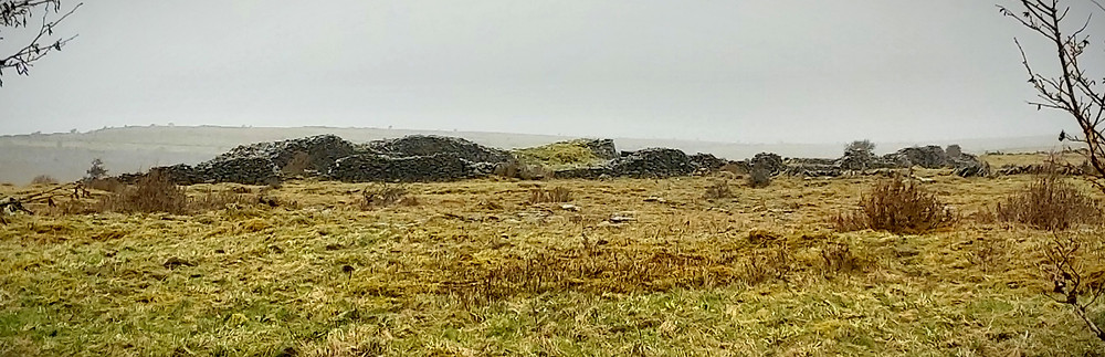 tumbled grey stone walls of ring fort
