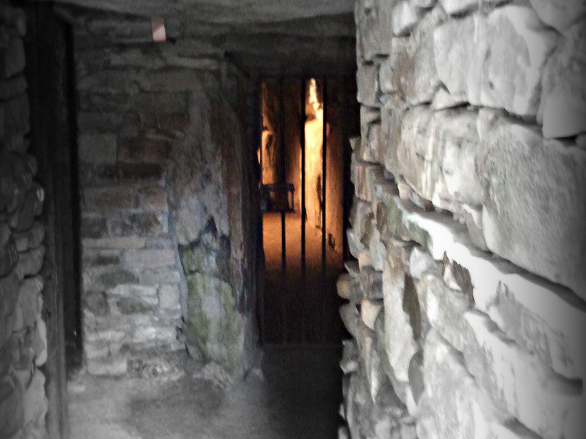 Inside central mound, Knowth