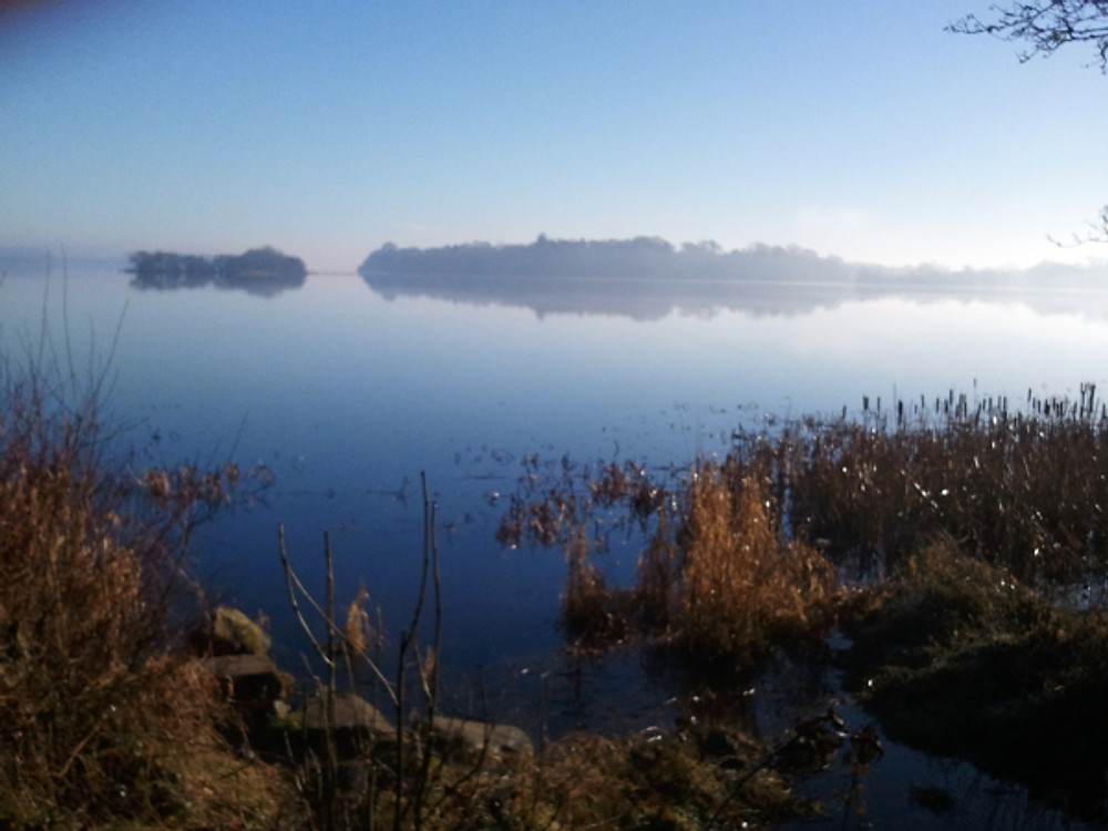 A misty morning view of Lough Ramor, Co. Cavan, Ireland. (c) Ali Isaac