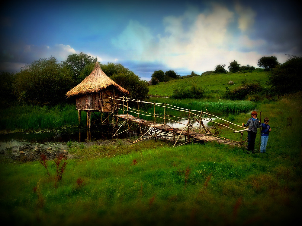 At the summit is Lough Lugh, where Lugh is reputed to have met his death. For the festival, a miniature replica of a crannog was constructed over the lake.