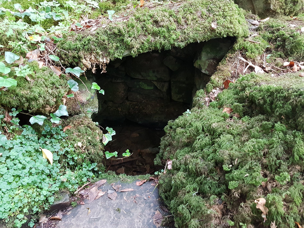 A Close up of St Patrick's Holy Well.