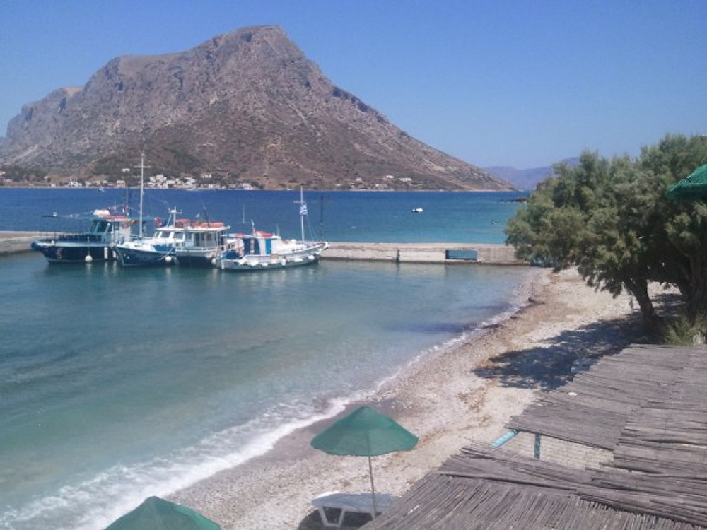 View of Telendos from Babis's Bar.