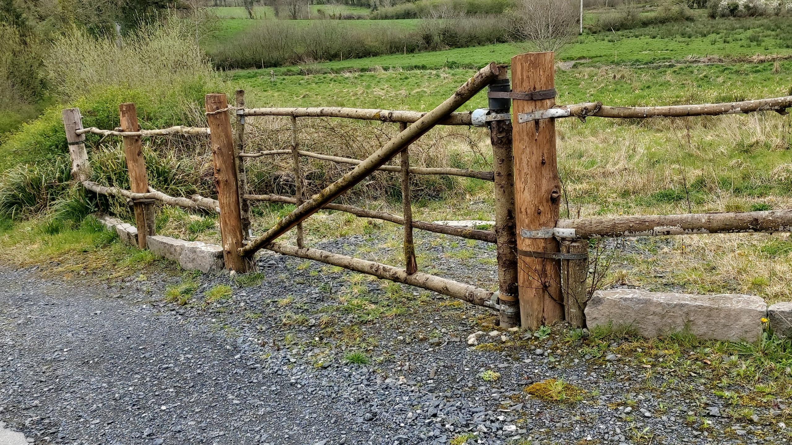 rustic home-made gate
