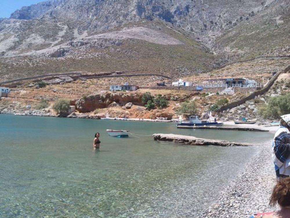 The clearest, shallow sea at Palionysys, Kalymnos