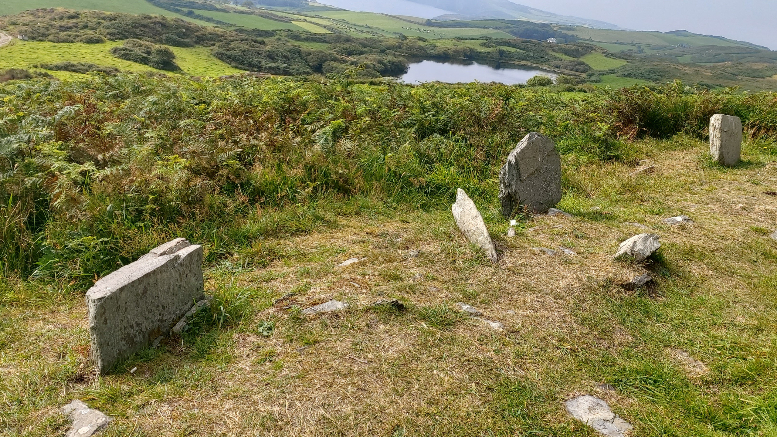 small standing stones outside