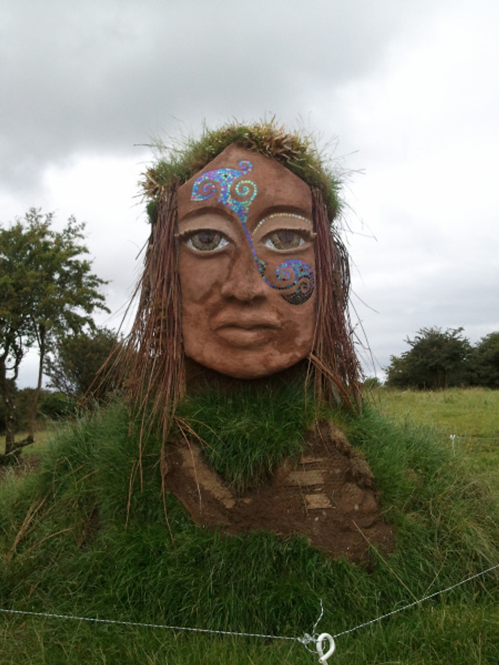 Goddess art installation by Patsy Preston at Uisneach