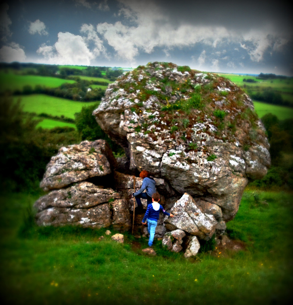 The cat stone at Uisneach, said to mark the very centre of Ireland.