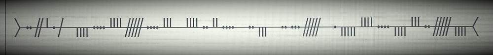 A line of text written in Ogham symbols