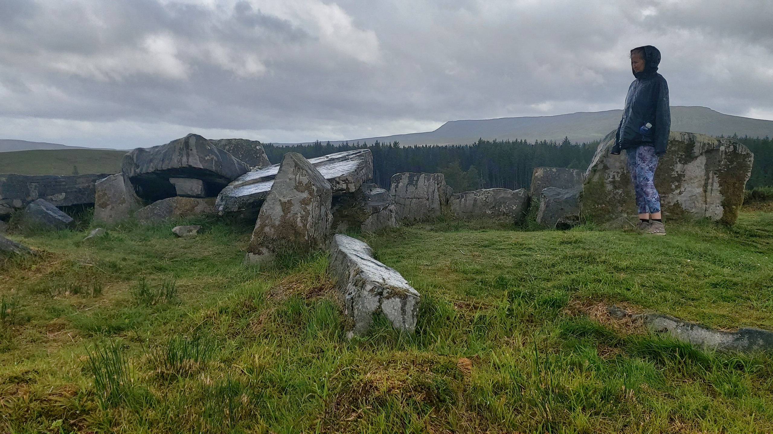 Remains of hill-top dolmen