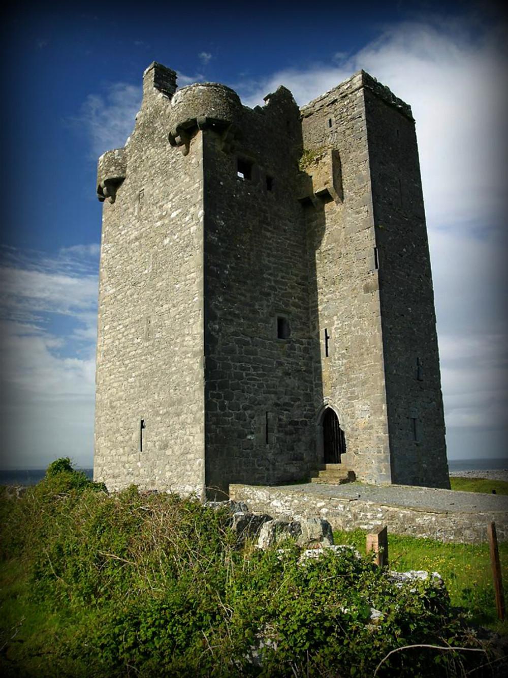 Gleninagh Castle (c) Jon Sullivan (PD Photo.org). Courtesy of Wikimedia.