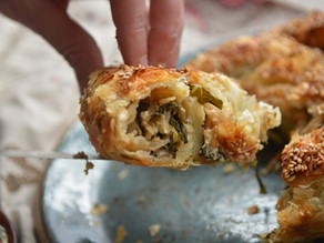 Feta and Kale Filo Pie