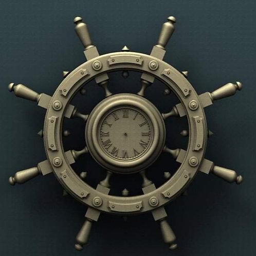 Captain's Wheel Clock