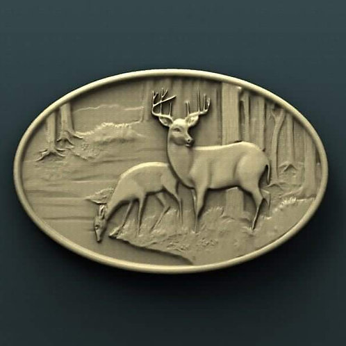 Deer Couple Plaque