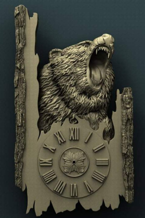 Grizzly Clock