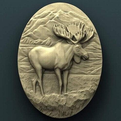 Moose Plaque