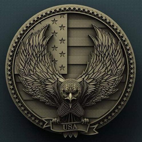 Bald Eagle & Flag
