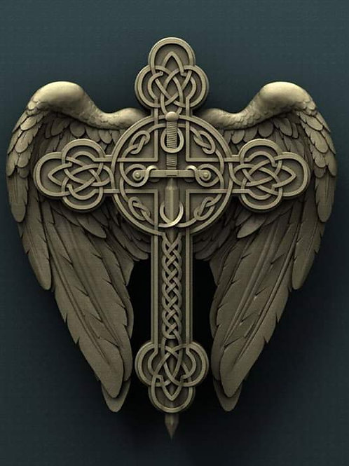Celtic Cross and Wings