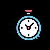 Pictogram van een klok