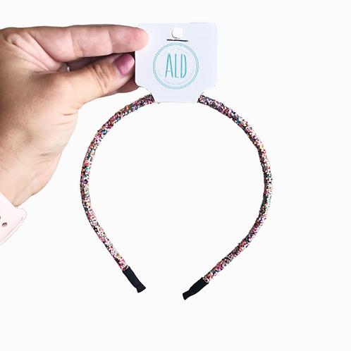 Sparkle Headbands - 10 Flexible Glitter Headbands