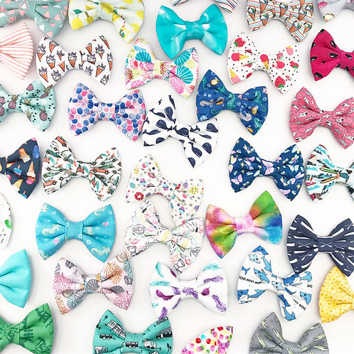 25 Printed Fabric Bows