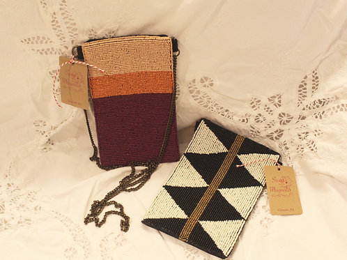 Ink and Alloy Beaded Purse