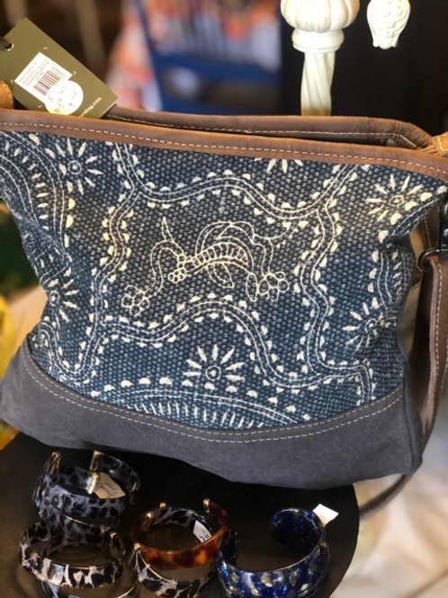 Myra Navy Shoulder Bag