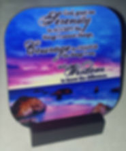 Serenity prayer beach ACTUAL COASTER on