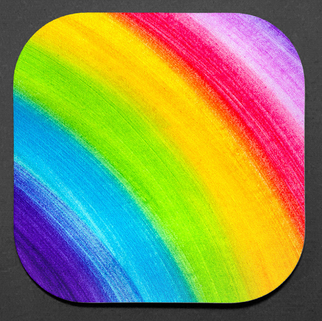 RAINBOW 4-PC COASTER SET