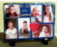 Personalized photo slate