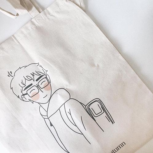 Tsukishima // tote bag lines (with defects)