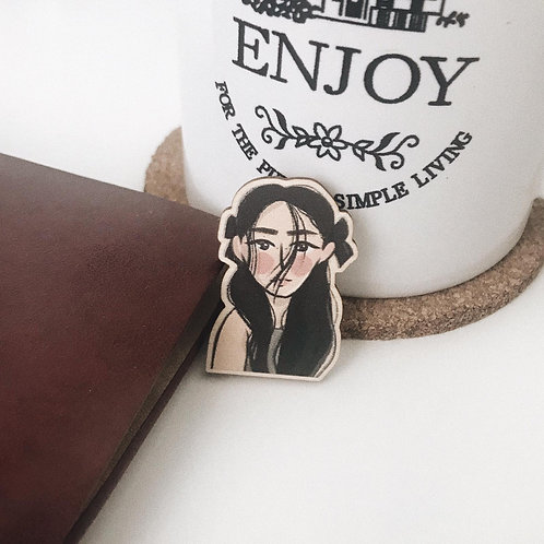 Ethereal // wooden pin
