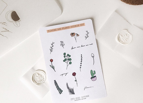 Plants and flowers sticker set 🌷