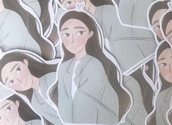 girls | vinyl stickers