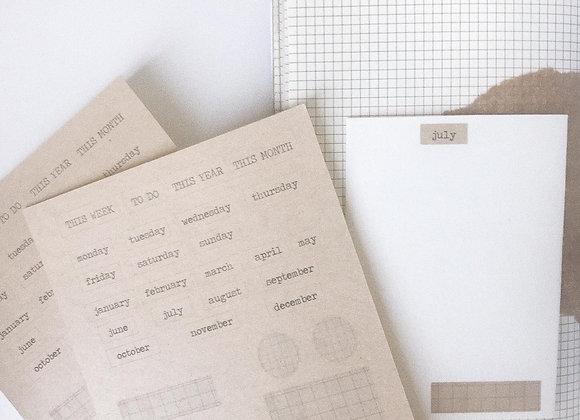 Kraft sticker sheet