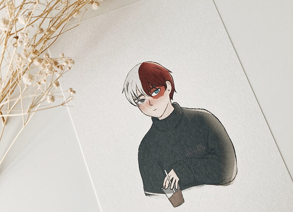 waiting | todoroki print