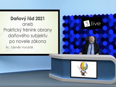 Daňový řád 2021 – Nově se Studio3.live