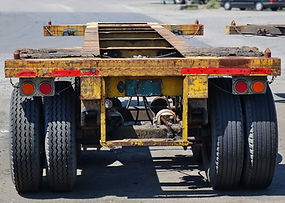 Large container trailer chassis used for
