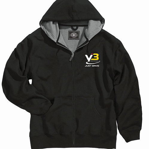 V3 Transportation - Tradesman Thermal Full Zip Sweatshirt Black